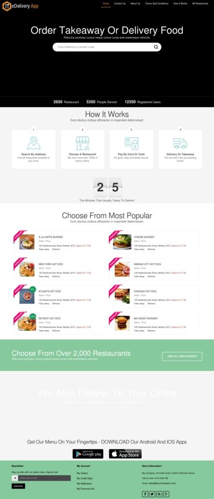 Online Food Ordering System Like Grubhub Amp Foodpanda 1