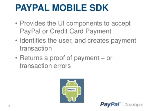 Create Client Id For Paypal Mobile Payments.