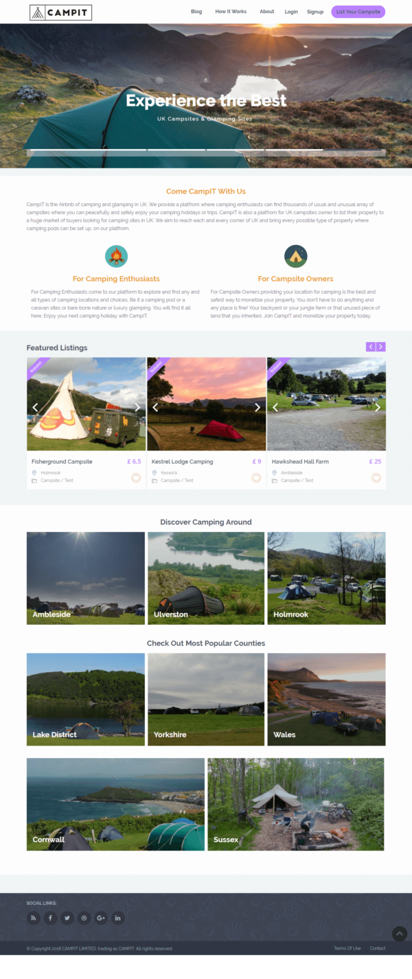 campit.io airbnb of camping in uk