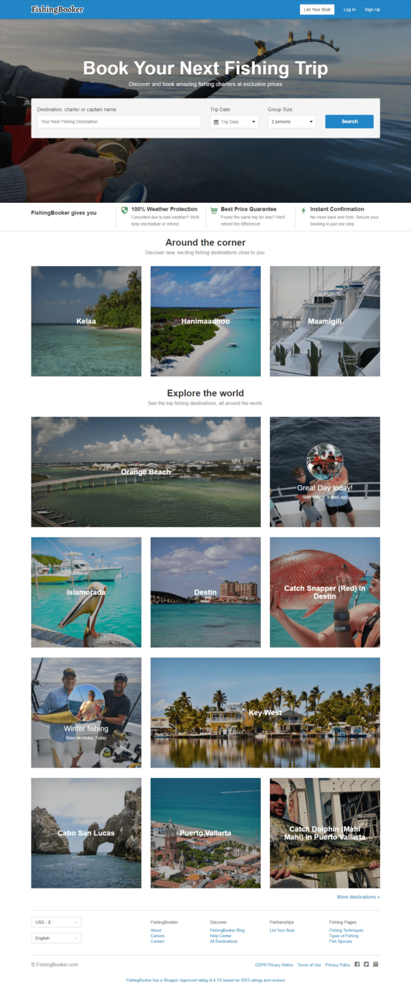 fishingbooker-airbnb of boating